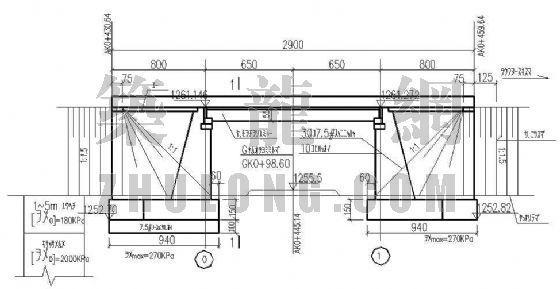 13m预应力空心板桥(正交)设计图