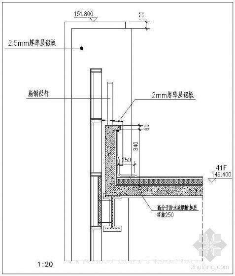 钢结构屋面节点-女儿墙2