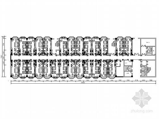 某大型花园酒店房型平面分布CAD图块下载