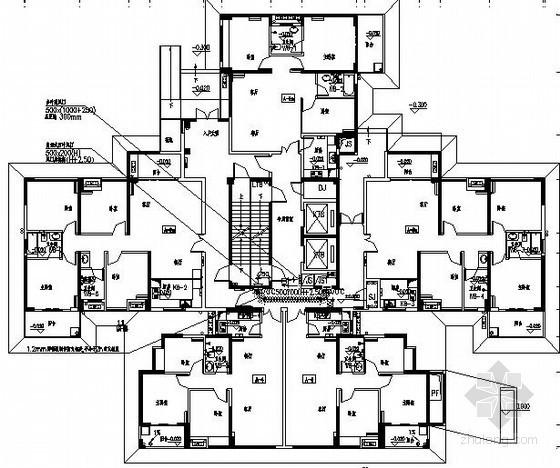 [福建]高层住宅通风排烟及人防设计施工图