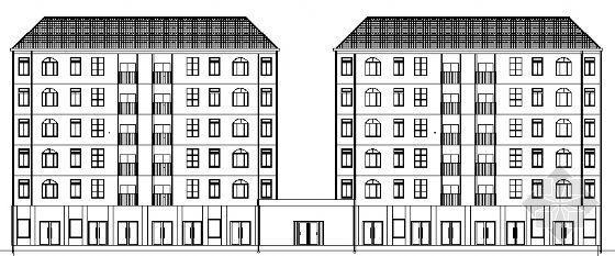 益阳市某小区六层商住楼建筑方案图
