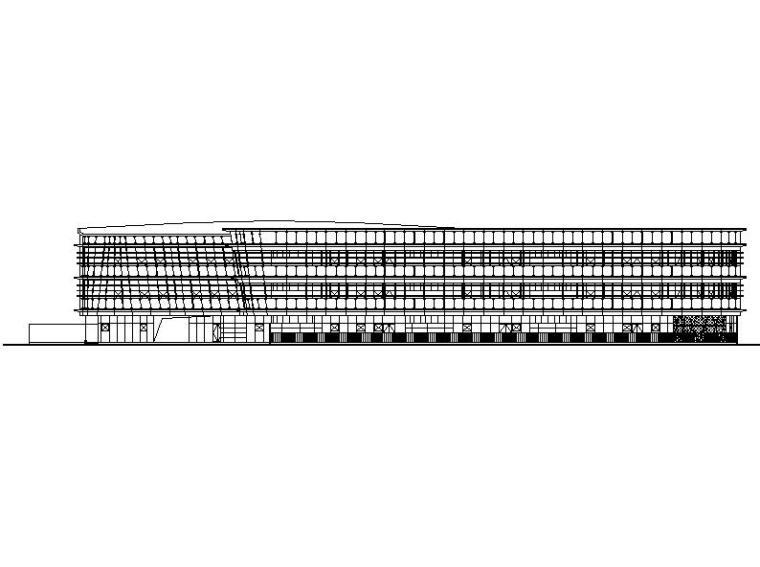 [浙江]三层钢结构幕墙立面市级幼儿园建筑施工图