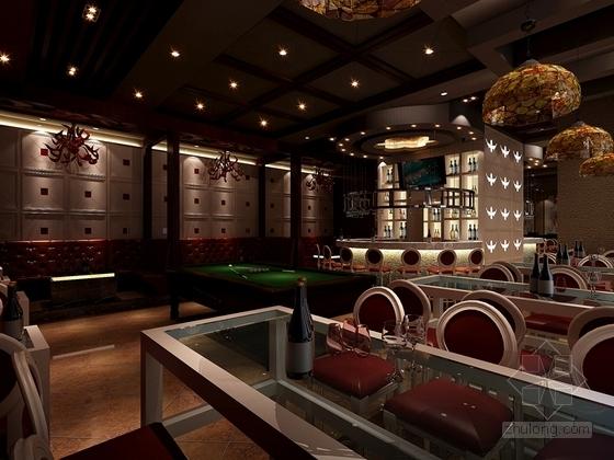 [安徽]时尚休闲酒吧室内装修施工图(含效果图) 效果图