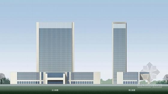 [河南]26层现代风格高档酒店公寓设计方案文本-26层现代风格高档酒店公寓立面图