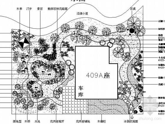 武汉某别墅景观设计施工图