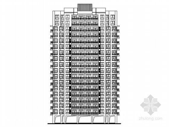 [四川]某住宅区十八层带入户花园住宅楼建筑方案图(含效果图)