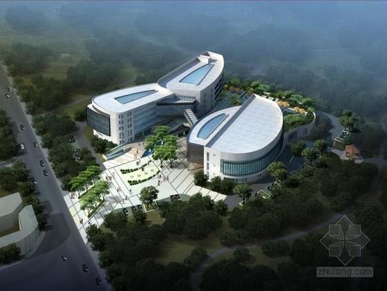 [江苏]连廊式弧线型高端人才大厦建筑设计方案文本