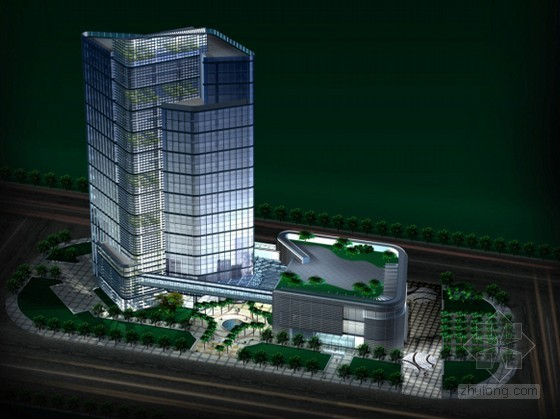 vivo总部方案设计资料下载-[浙江]某集团滨江总部大楼方案设计