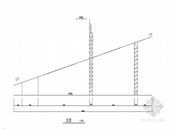 某路桥市场钢结构大门结构图