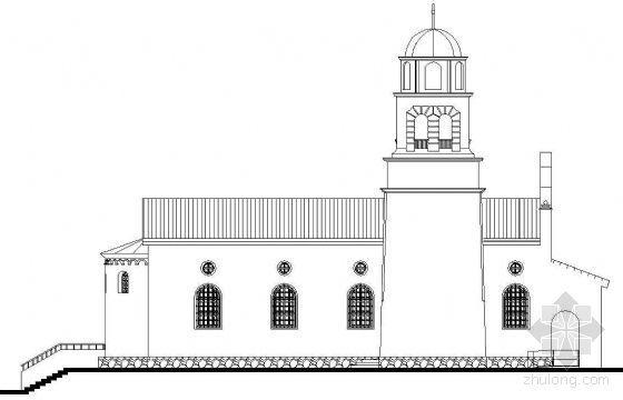 某一层欧洲风格教堂建筑方案