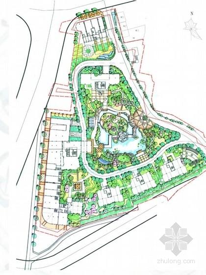 [宁德]县城中式新古典主义风格居住区景观设计方案