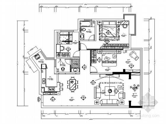 现代中式3室2厅2卫室内装修图(含效果)