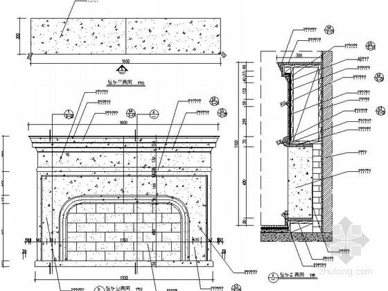 [湖北]地中海温馨舒适2居室室内设计CAD施工图(含效果图)-[湖北]地知名地产温馨舒适2居室室内设计立面图