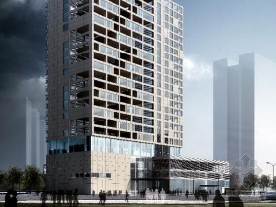 [深圳]某二十三层综合服务办公楼建筑方案文本