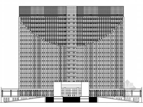 [江苏]某市政二十一层办公楼建筑施工图(含效果图)