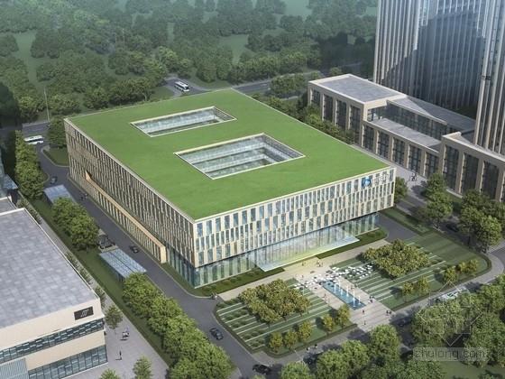 [吉林]5层多层组合幕墙办公楼建筑设计方案文本