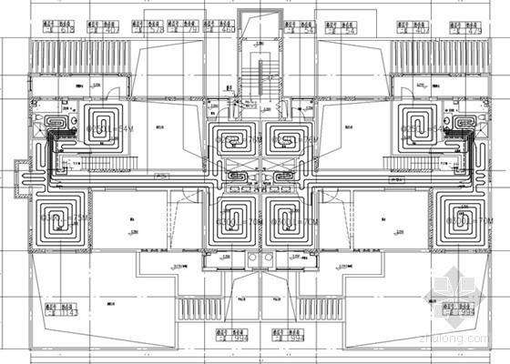 [山东]跃层住宅建筑采暖及通风系统设计施工图(含负荷计算书)