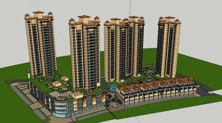 超高层居住区建筑模型设计