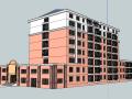 居住区建筑模型