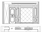 整木家居卧室背景墙CAD图纸图库