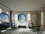 蓝白茶室禅意空间3D模型