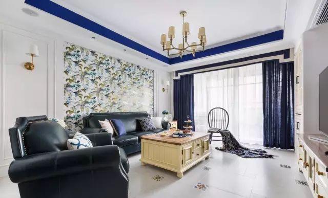 168㎡蓝白美式风格,温馨自然、优雅平静!