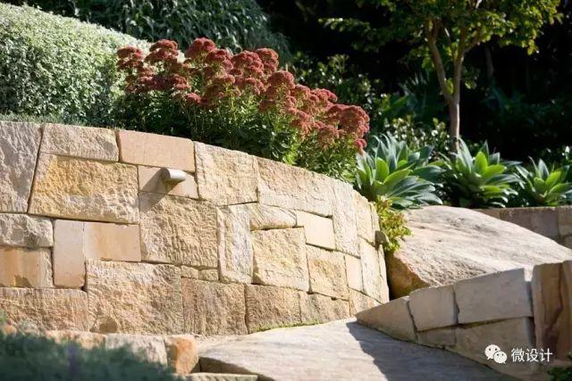 各式各样的庭院景观墙,美_11