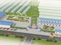 农业大棚种植基地采摘园设计案例鸟瞰效果图