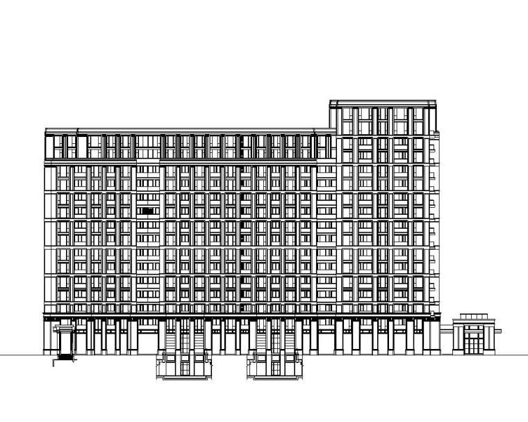 [江苏]无锡绿城居住区建筑施工图设计(欧陆风格)