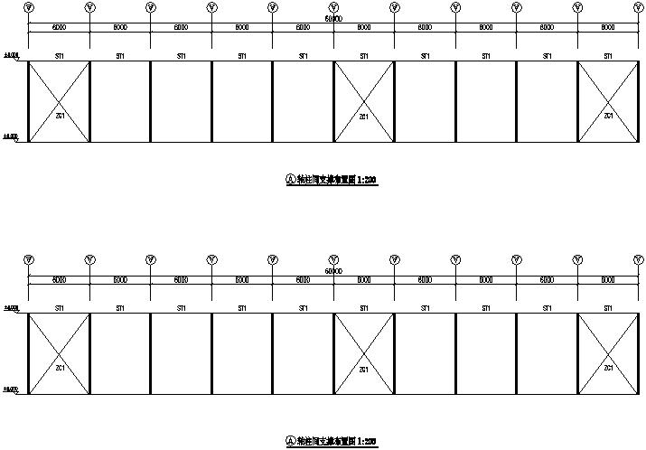 广西南宁门式刚架钢结构工程施工图(CAD,10张)