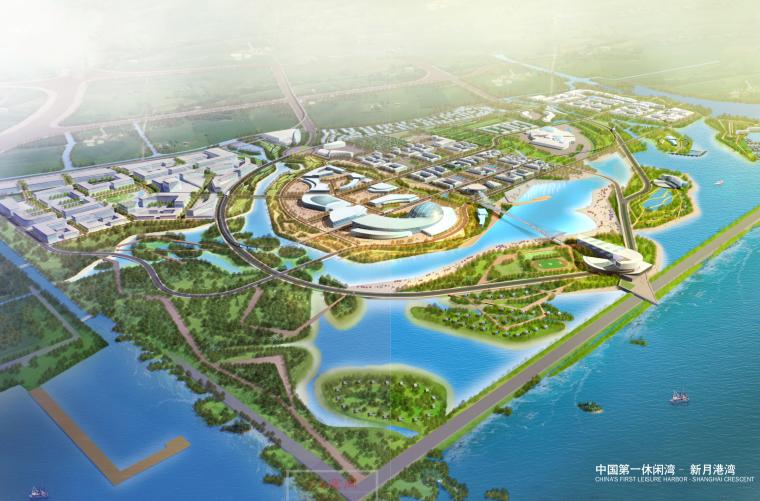 [上海]浦东华夏文化旅游区(上海新月港湾)城市规划设计方案