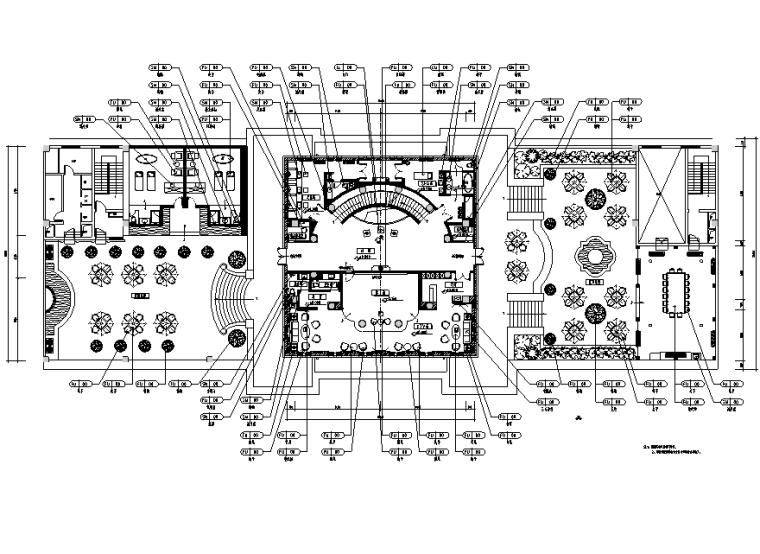 [浙江]九龙国际大饭店会所空间设计施工图(附效果图)