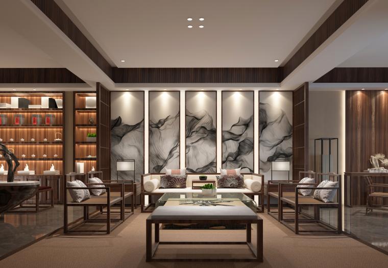 茶室之思|中式风茶室设计3D模型(附效果图)