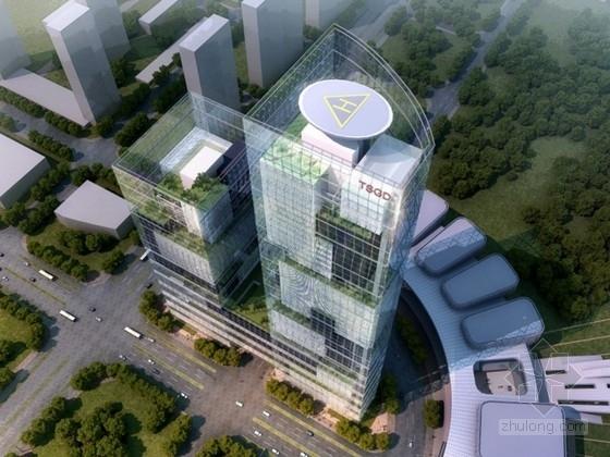 [唐山]某传媒大厦50层办公楼方案文本(含CAD、动画)