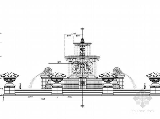 [东莞]居住区主入口水景设计施工图-图7