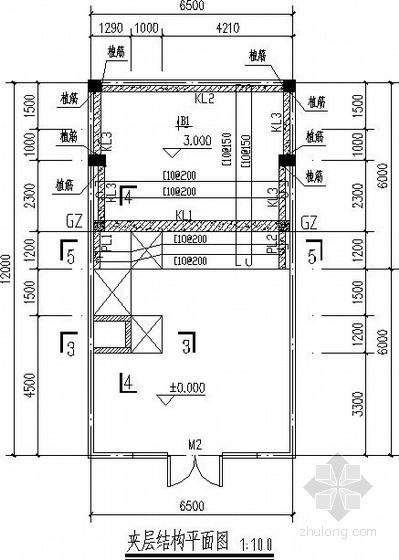 商铺自建夹层结构施工图