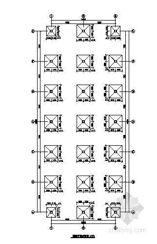 框架结构甲类仓库结构施工图(屋顶泄爆)