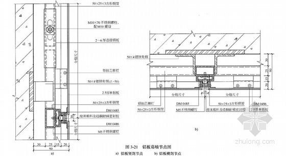铝板幕墙节点详图