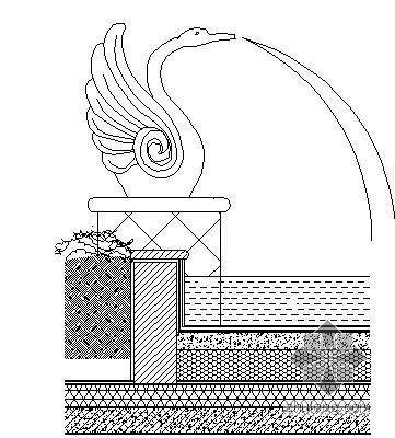某小区天鹅喷水施工详图