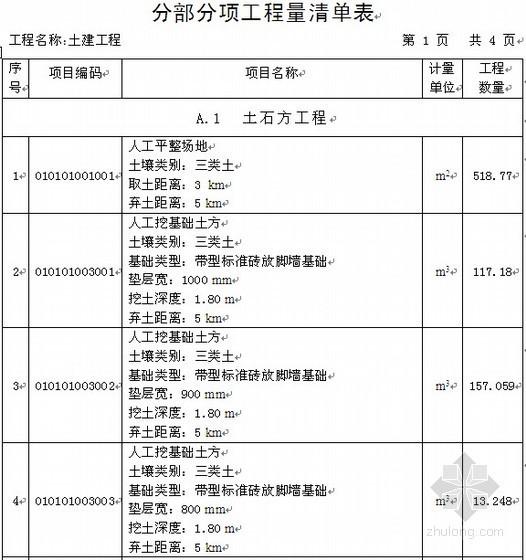 [毕业设计]安徽某住宅楼工程量清单计价实例(58页)