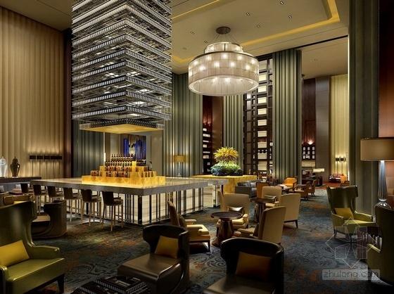 [湖南]别具一格奢华高档五星级商务酒店设计方案标准客房效果图
