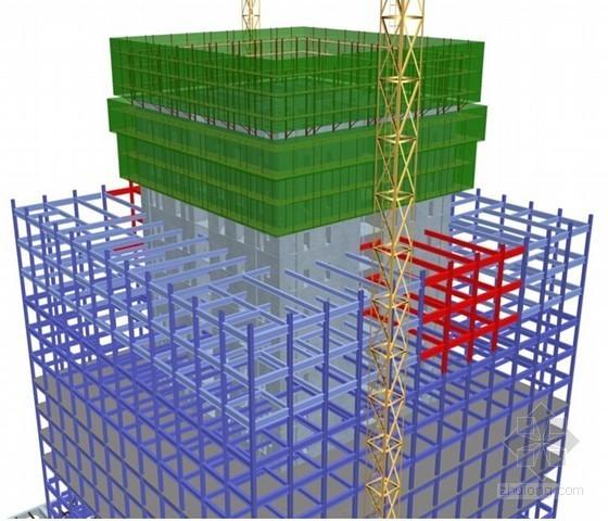 [深圳]超高层塔楼及抬升裙楼钢结构施工方案(附三维流程图)