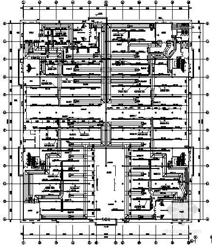 [山东]大型商场暖通设计施工图(散热器采暖 空调通风)
