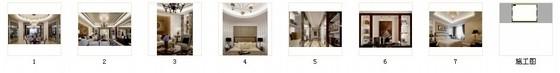 [山东]欧式轻奢华丽样板间室内施工图(含实景照片)-欧式轻奢华丽丽样板间室内施工图(含实景照片)缩略图
