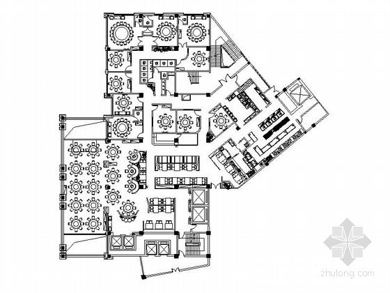 [原创]全国连锁现代中餐饭馆室内装修施工图