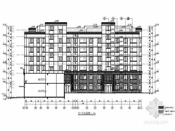 [安徽]六层框架结构商住楼结构施工图(含详细建筑图)