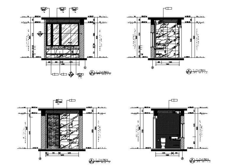 [海口]复古奢华低层别墅样板间室内设计施工图(含软装方案)_7