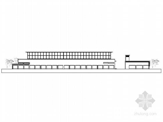 [上海]某机场能源中心办公楼建筑方案图