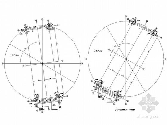露天煤矿产品仓仓顶钢结构施工图