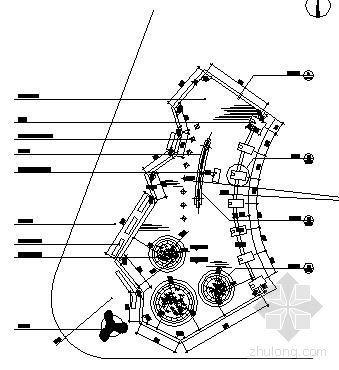 小区入口水池及水中树池施工图